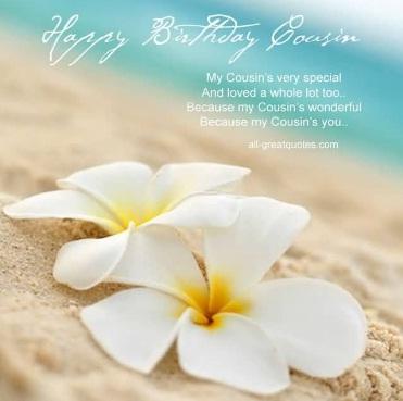 Awesome White Flower Birthday Wishes For Cousin - Fantastico Cartoline Di Buon Compleanno Con Fiori
