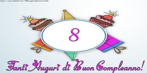 auguri di buon compleanno bambina 8 anni