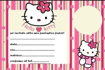 inviti di compleanno hello kitty