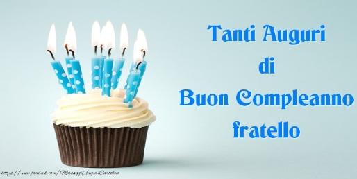 Tanti Auguri Di Buon Compleanno Mio Fratello Invito Elegante