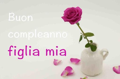 Tanti Auguri Di Buon Compleanno A Mia Figlia Invito Elegante