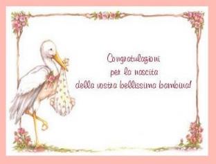 8 - Congratulazioni Per La Nascita Di Una Bambina