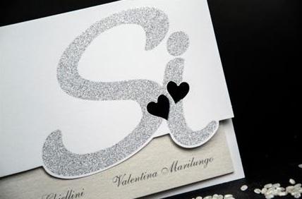 2 4 - Partecipazioni Matrimonio Bianco e Nero