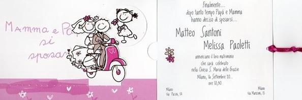 5 - Partecipazioni matrimonio bambini