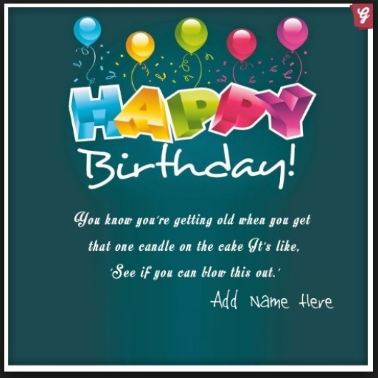 Happy Birthday Greetings Card With Name Edit Archives