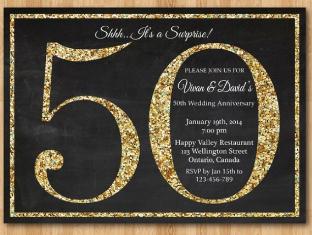 1 9 - Biglietti Invito Anniversario 50 Anni Matrimonio