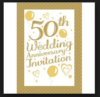 inviti per anniversario di matrimonio 50 anni