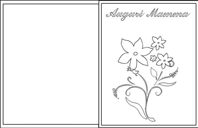 biglietti di auguri per la mamma da stampare e colorare - Biglietti Di Auguri Da Stampare E Colorare
