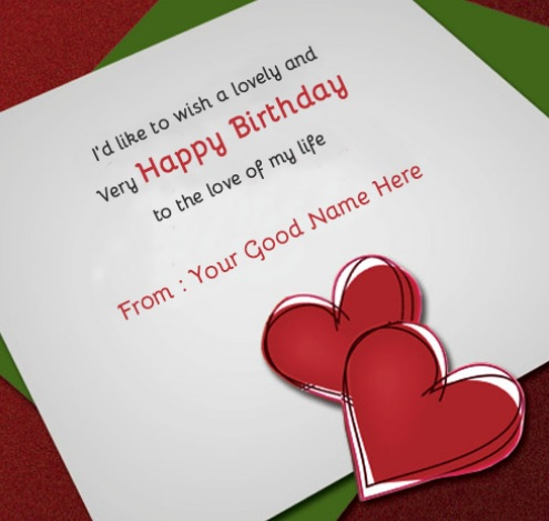 Birthday Wishes For Lover With Name - Birthday Wishes For Lover
