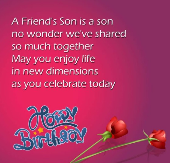 Birthday Wishes Of Friends Son - Birthday Wishes Of Friend