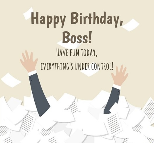 Happy Birthday Card Message For Boss - Happy Birthday Card Message