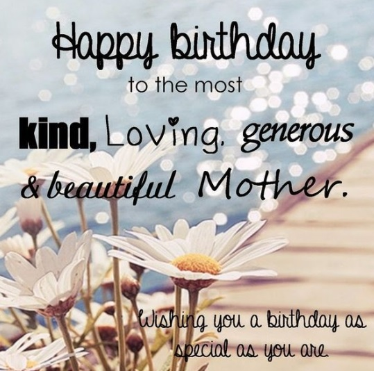 Happy Birthday Quotes For Mom From Daughter