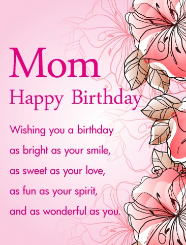 Lovely Birthday Messages For Mom - Lovely Birthday Messages