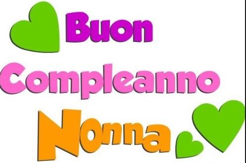 Auguri Di Buon Compleanno Dalla Nonna